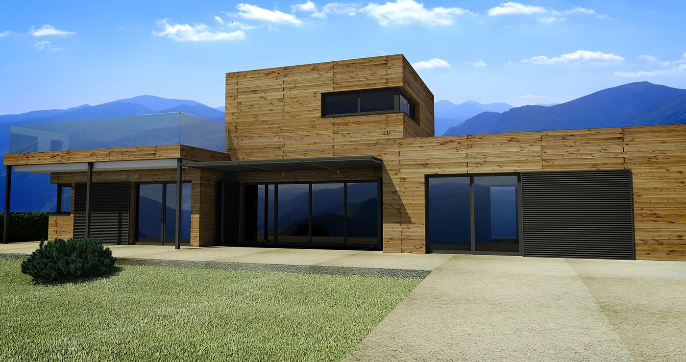 Conception maison Ossature Bois